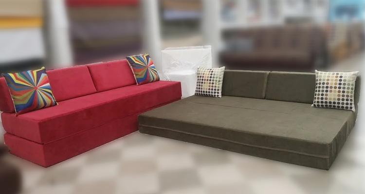 Upholstered Firm Convertible Couch